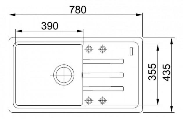 Кухонная мойка IBIZA MAXI схема